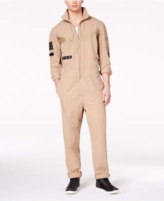 GUESS Men's Poplin Jumpsuit