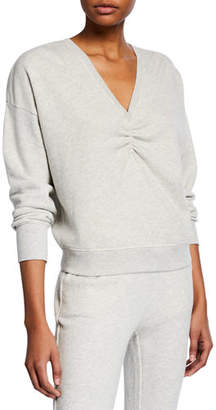 Joie Warda V-Neck Cotton Sweatshirt