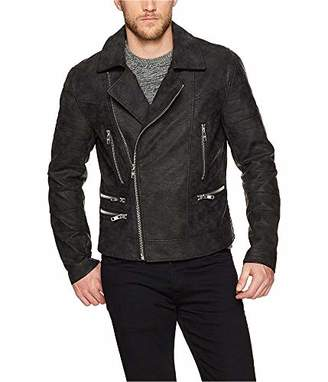 William Rast Men's Nightshade Pu Leather Moto Jacket