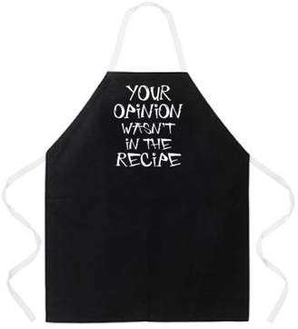 """Attitude Aprons Fully Adjustable """"Your Opinion Wasn't In The Recipe"""" Apron"""