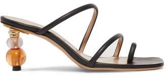 Jacquemus Noli Leather Sandals - Black