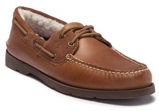 Sperry Leeward 2-Eye Faux Fur Lined Leather Boat Shoe