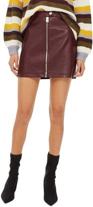 Topshop Penelope Faux Leather Miniskirt