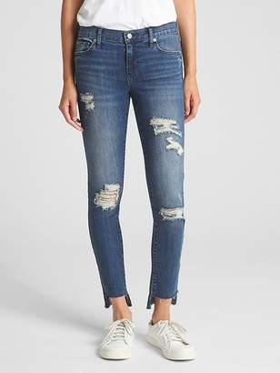 Gap Washwell Low Rise True Skinny Jeans with Destruction