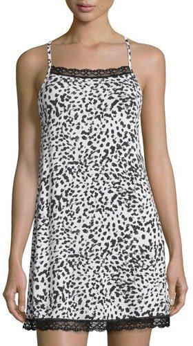 CosabellaCosabella Majestic Print Chemise, Leopard
