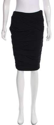 Ralph Lauren Ruched Knee-Length Skirt