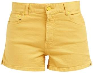 Solid & Striped High Rise Denim Shorts - Womens - Yellow