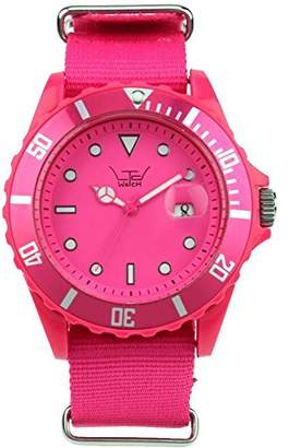 LTD Watch Unisex Limited Edition Canvas Watch LTD 091101 With Shoking Pink Canvas Bracelet and Pink Dial