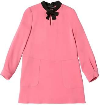 Emporio Armani Cady Viscose Stretch Dress
