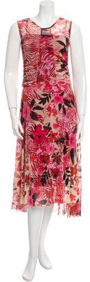 Fuzzi Printed Mesh Dress w/ Tags $175 thestylecure.com