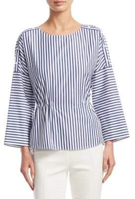 Akris Punto Striped Cotton Blouse