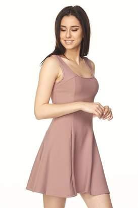 New Mix Scuba Flare Dress