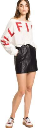 Tommy Hilfiger Leather Mini Skirt