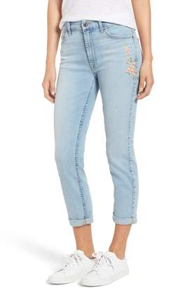 7 For All Mankind JEN7 by Embroidered Slim Boyfriend Jeans