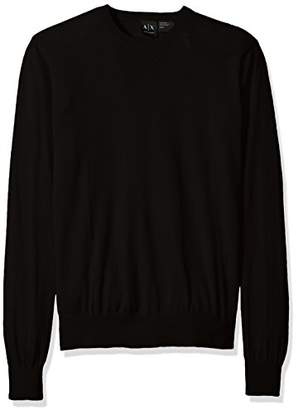 Armani Exchange A X Men's Long Sleeve Crew Neck Pullover Knit Slim Fit