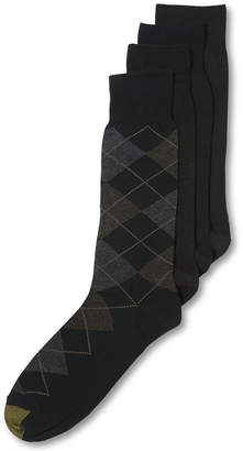 Gold Toe Men's Socks, Dress Argyle 4 Pack, Created for Macy's