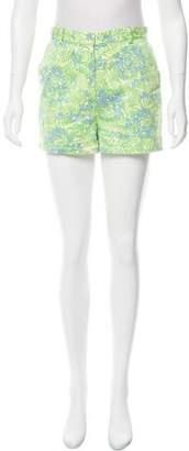 Tibi Floral High-Rise Shorts