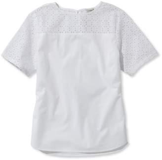 Cotton Eyelet-Trimmed Shirt