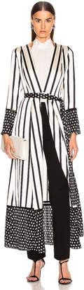 Leone We Are we are Contrast Maxi Cardigan in Black & Cream Stripe | FWRD
