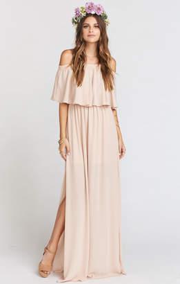 Show Me Your Mumu Hacienda Maxi Dress ~ Dusty Blush Crisp
