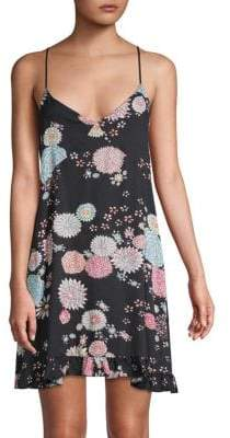 Josie Natori Printed Chemise Dress