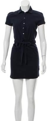 Malo Collared Knit Mini Dress