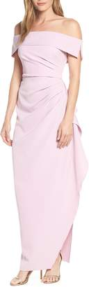 Vince Camuto Ruffle Off the Shoulder Column Dress