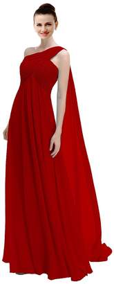 ThaliaDress Women's One Shoulder Straps Bridesmaid Dress Prom Gown T191LF US