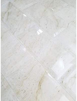 Abolos SAMPLE - Nature Beveled Glass Subway Tile in Creme