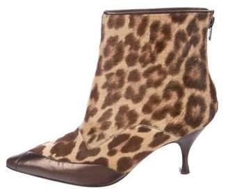 Salvatore Ferragamo Ponyhair Ankle Boots