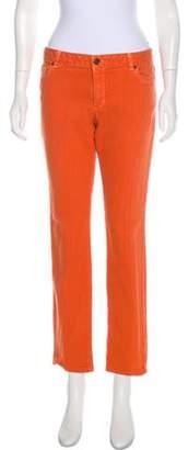 Michael Kors Mid-Rise Straight-Leg Jeans Orange Mid-Rise Straight-Leg Jeans