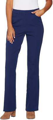 Isaac Mizrahi Live! Regular 24/7 Stretch Boot Cut Fly Front Pants