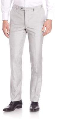 Saks Fifth Avenue COLLECTION Flat-Front Silk Dress Pants