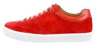HUGO BOSS Boss by Suede Low-Top Sneakers w/ Tags