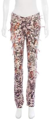 Isabel Marant Printed Low-Rise Jeans
