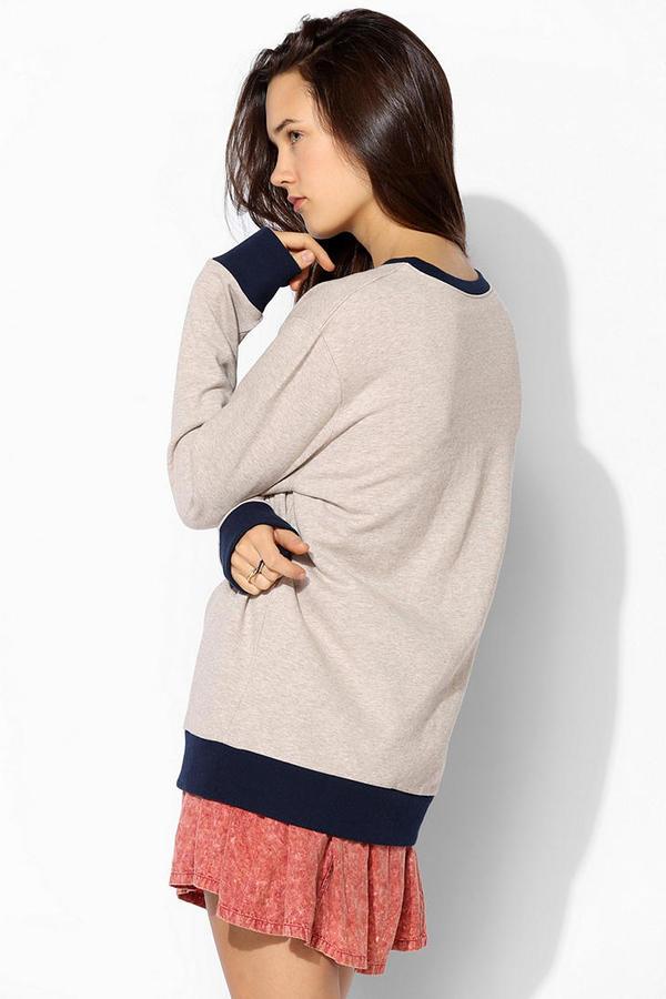 BDG Varsity Patch Pullover Sweatshirt
