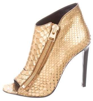 Tom Ford Python Peep-Toe Ankle Boots w/ Tags