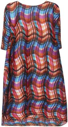 Issey Miyake Wavy Print Dress