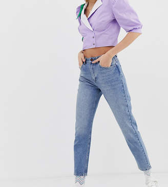 Reclaimed Vintage The '89 slim tapered leg jean in vintage mid stone wash