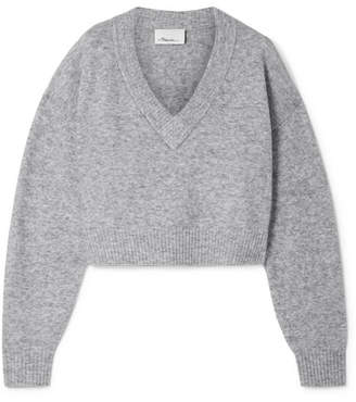 3.1 Phillip Lim Cropped Knitted Sweater - Gray