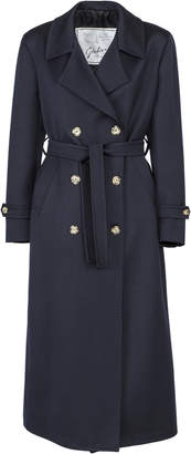 Giuliva Heritage Collection Christie Double-Breasted Tailored Wool Twill Coat