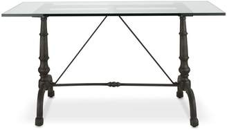Williams-Sonoma La Coupole Rectangular Iron Bistro Table with Glass Top