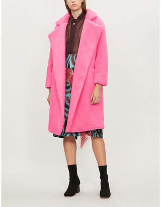 Michael Lo Sordo Wrap-over faux-fur teddy coat