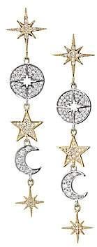 Sydney Evan Women's 14K Yellow Gold, 14K White Gold & Diamond Celestial Drop Earrings