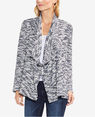 Vince Camuto Marled Open-Front Cardigan