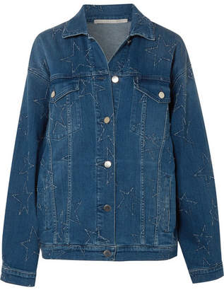 Stella McCartney Oversized Distressed Denim Jacket - Mid denim