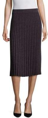 Rebecca Taylor Lurex Ribbed Skirt