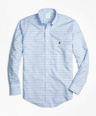 Brooks Brothers Non-Iron Milano Fit BB#1 Horizontal Stripe Sport Shirt
