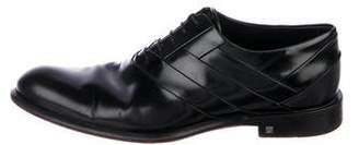 Louis Vuitton Leather Round-Toe Oxfords