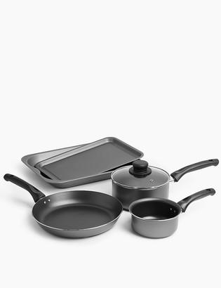 Marks and Spencer Grey Aluminium 5 Piece Pan Set